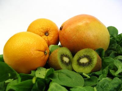 Frukt och spenat